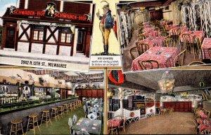 Wisconsin Milwaukee Schwaben-Hof German Restaurant Multi View 1941
