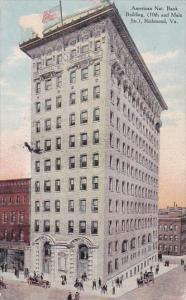 Virginia Richmond American Nat Bank Building 10th And Main Streets 1910