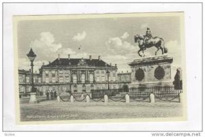 Kobenhavn, Danmark 1910-30s ; Amalienborg Slot