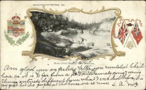 Muskoka Ontario Moon Chute Rapids Bala c1905 Postcard