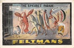Feltmans, The Epicure's Parade Coney Island, NY, USA Amusement Park 1933