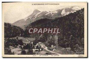 Old Postcard Picturesque Auvergne Lioran General view