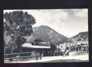 RPPC WOLF WYOMING EATONS RANCH ADVERTISING VINTAGE REAL PHOTO POSTCARD