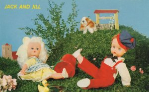 Jack & Jill Nursery Rhyme 1970s Toy Doll Vintage Postcard