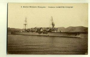 na0165 - French Navy Warship - Lamotte Picquet - postcard