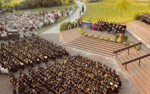Media Pennsylvania~Delaware Community College~Graduation Ceremony~Stage~1970s PC