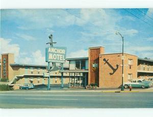 Vintage Post Card Anchor Motel Beautyrest Mattresses 70 Hwy Nashville TN  # 4088