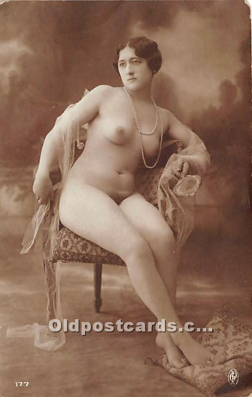 French Nude Non Postcard Backing