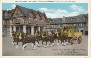 Illinois Chicago Union Stock Yards 6 Horse Team International Livestock Expos...