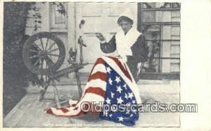 Betsy Ross Patriotic, Old Vintage Antique Postcard Post Card  Betsy Ross