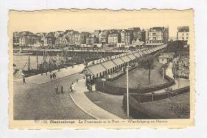 Blankenberge , Belgium, PU-1940    Le Promenoir et le Port