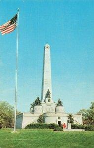 Postcard Lincoln Tomb Springfield Illinois