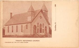 E87/ Carrollton Ohio Postcard Carroll County c1910 Trinity Refromed Church 4