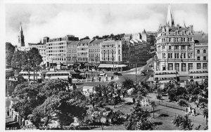 RPPC Central Gardens & Square BOURNEMOUTH England UK ca 1930s Vintage Postcard