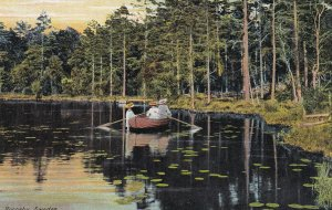 RONNEBY, Sweden, 1900-1910s; Ladies On A Row Boat