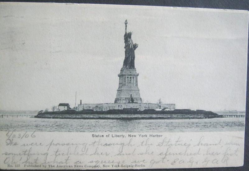 Statue Of Liberty New York Harbor 1906 American News Co #153