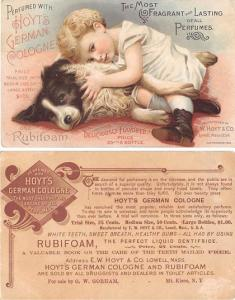 approx size inches = 3.5 x 5.5 Trade Card, Tradecard