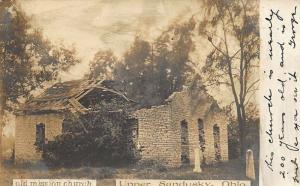 Upper Sandusky OH Old Mission Church Real Photo Postcard