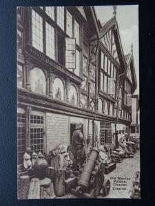 Cheshire CHESTER Old Stanley Palace Exterior - Old Postcard