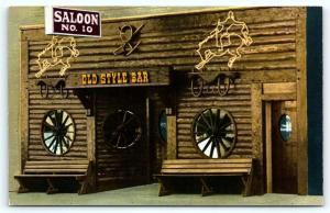 Postcard SD Deadwood Old Style Saloon No 10 Museum R50