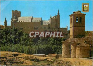 Postcard Modern Segovia Alcazar and Church of the Veracruz