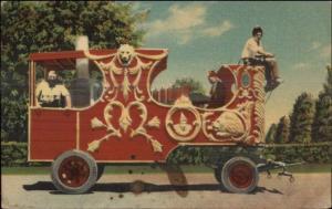 Circus Steam Calliope Gentry Bros Norfolk VA Linen Postcard