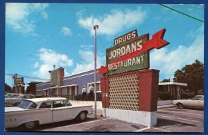 Weatherford Texas tx Jordan's Restaurant Highways 80 and 180 at the Y postcard