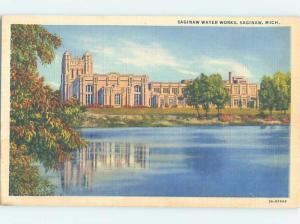 Linen WATERWORKS BUILDING Saginaw Michigan MI G1988