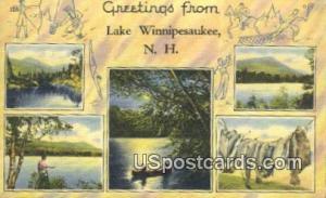 Lake Winnipesaukee, NH Postcard      ;      Lake Winnipesaukee, New Hampshire...