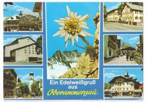 Greetings from Oberammergau Germany 1980 4X6 Chrome Stamps