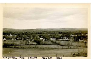 ME - Oxford. View from Allen Hill    *RPPC