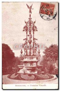Postcard Old Benedictine Fountain Vincelli