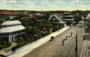 PC CPA MOZAMBIQUE, LOURENCO MARQUES, AVENIDA AGUIAR, Vintage Postcard (b26749)