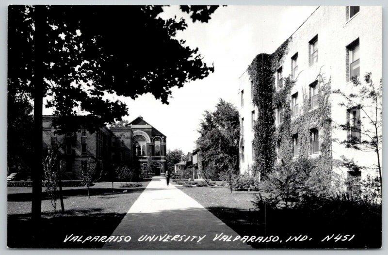 Valparaiso Univ IN~Chapel Auditorium~Burned 1957~RPPC 1950