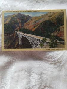 Antique Postcard, Pacific Highway over the Shasta River, California
