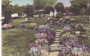 West Virginia Lewisburg General Lewis Hotel The Gardens Handcolored Albertype