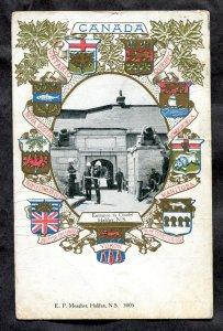 dc100 - HALIFAX NS 1905 Citadel. Heraldic. Patriotic. Military