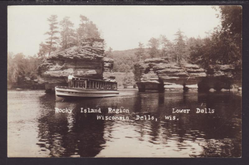 Rocky Island Region,Wisconsin Dells,WI Postcard