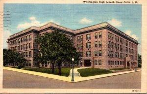 South Dakota Sioux Falls Washington High School 1949 Curteich