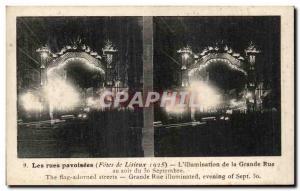 Old Postcard Streets decked Lisieux L & # 39illumination the Grande Rue eveni...