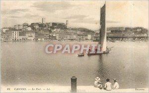 Old Postcard 18 CANNES-e-Pori LL boat Sailboat Child