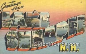 Lake Sunapee, NH, USA Large Letter Town Postcard Post Card Old Vintage Antiqu...