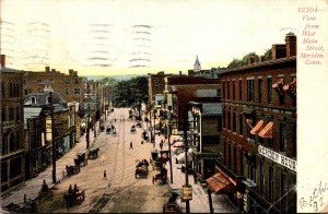 Connecticut Meriden View From West Main Street 1907