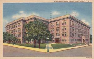South Dakota Sioux Falls Washington High School 1954 Curteich