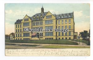 ft1664 - Lincoln High School , Cleveland , Ohio , USA - postcard