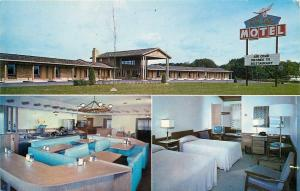 Hopkins MN~The Prairie Motel and Restaurant~AAA~Booth Bunch~1950s~postcard