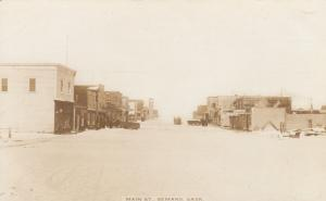 RP: SEMANS , Sask. , Canada , 1900-10s ; Main Street (wintert)