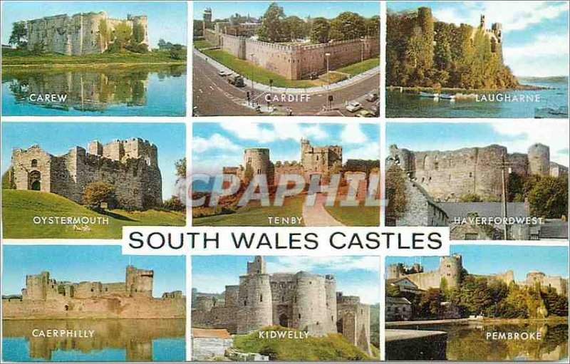 Postcard Modern Cardiff Carew Tenby Haverfordwest Laugharne Oystermouth Caerp...