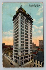 Pittsburgh PA, Keenan Building, Drugstore, Vintage Pennsylvania Postcard
