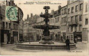 CPA BESANCON - Fontaine de la Place Bacchus (131241)